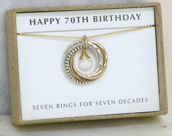 70th birthday gift for her, June birthstone jewelry, June birthday gift - Lilia