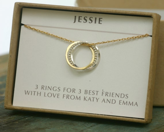 30th Birthday Gift For Her 3 Best Friend Necklace