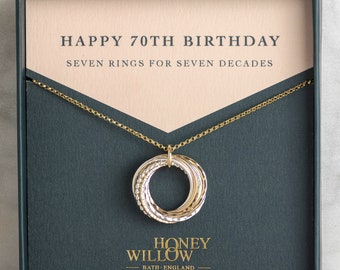 70th Birthday Gift | 70th Birthday Necklace | 70th Gift for Mother | 70th Necklace Sister