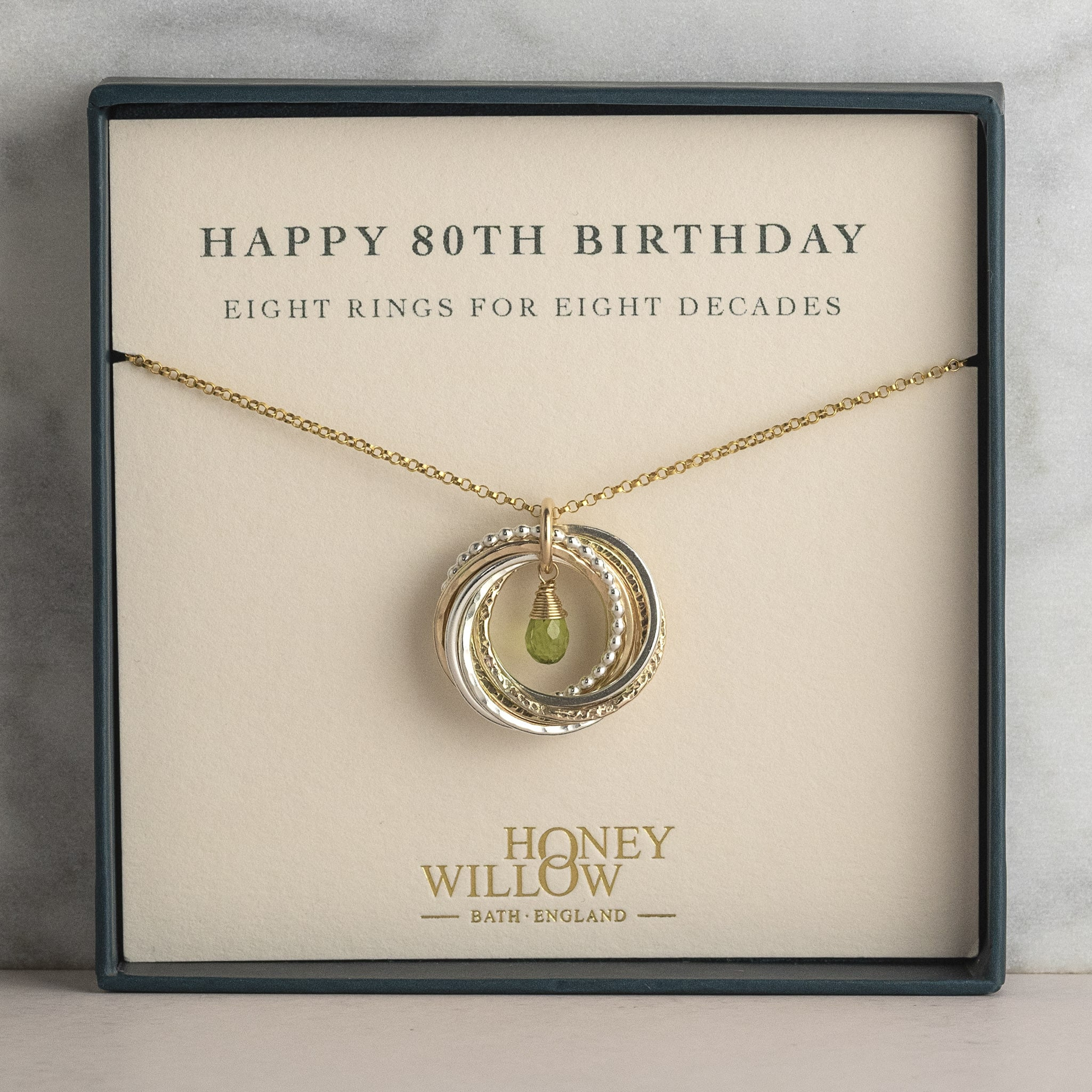 Gift for Her Party Gift 80th Birthday Necklace Milestone Birthday Jewelry Gift for Her 80 Birthday Gift Happy Birthday