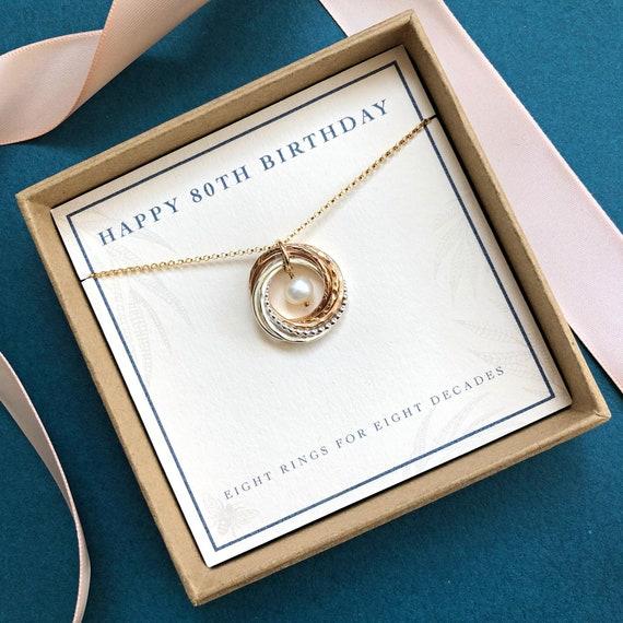 Regalo Compleanno Mamma 80 Anni.80 Compleanno Gioielli 80 Compleanno Regalo Per La Mamma Etsy