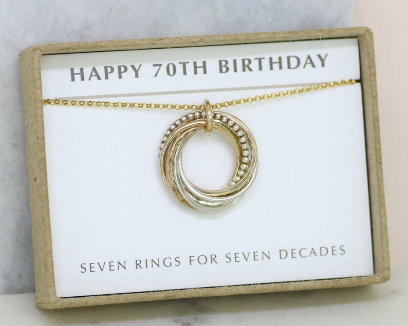 70th Birthday Gift Necklace For