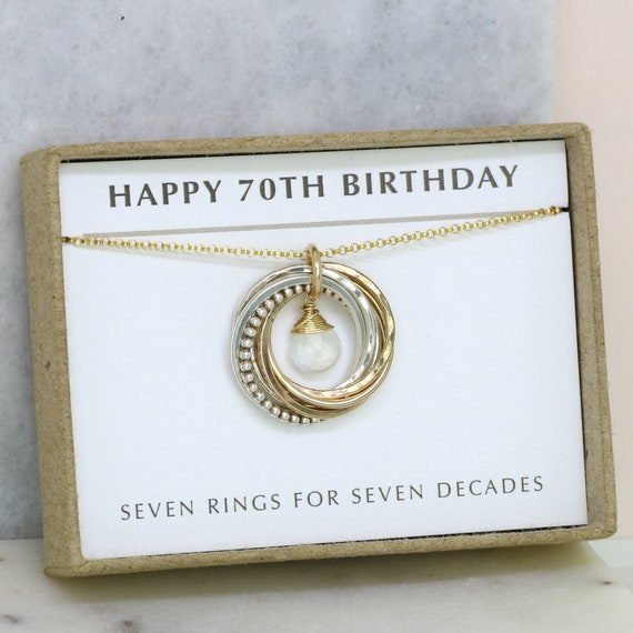 70th Birthday Gift For Her June Birthstone Jewelry