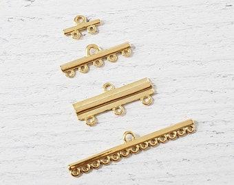 3 Feed Connector Bar Jewelry Supplies Set of 25 Connector Bar 12 inch Tibetan Silver Destash Supplies Beading Supplies