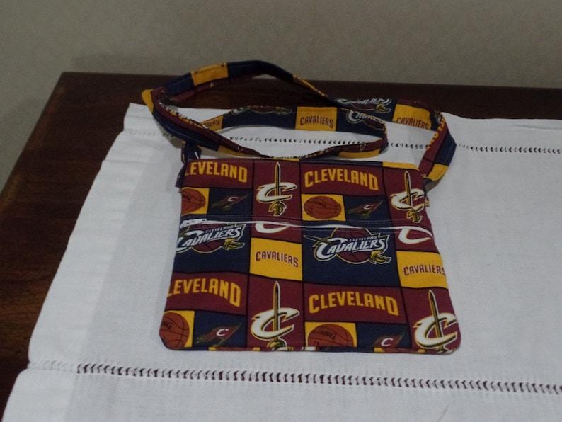 Cleveland Cavaliers Cross Body Double Pocket Purse