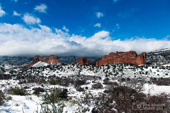 Snow Covered Garden Of The Gods Photograph Various Sizes