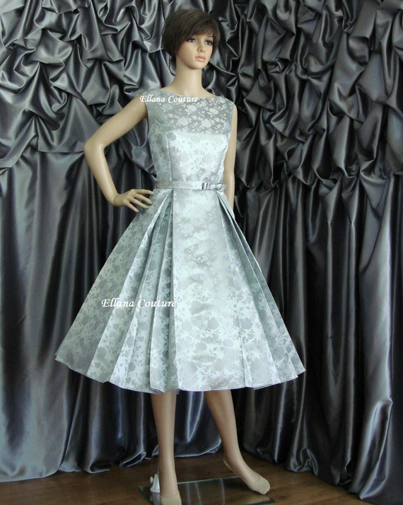 Betty Vintage Style Tea Length Wedding Dress. Available in