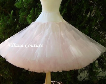 READY to SHIP. Soft Pink Tea Length Crinoline. MEGA Fullness Petticoat. Size S.