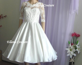 Ready to Ship. Julia - Vintage Inspired Wedding Dress. Retro Style Bridal Gown.