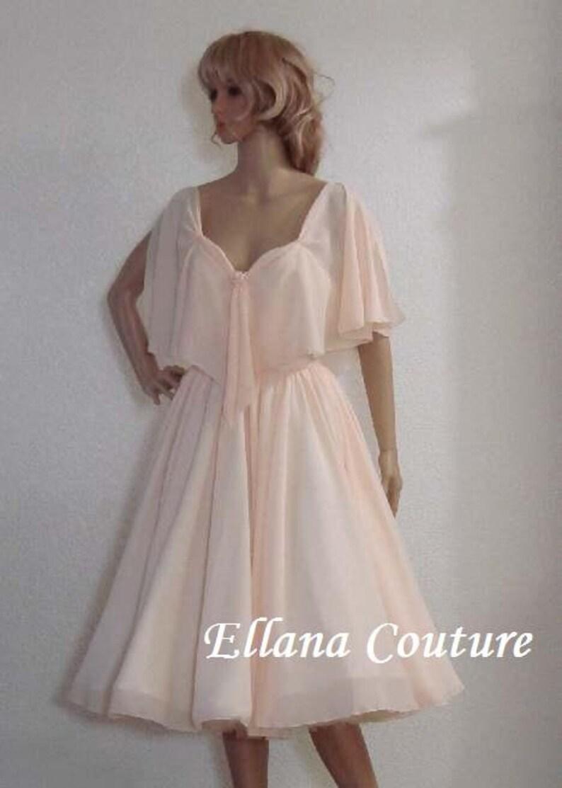 Retro Style Tea Length Wedding Dress. Ready to Ship Josephine