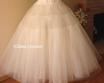 Full Length Crinoline. Extra Fullness Petticoat. Available in Several Colors.