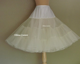 Tea Length Crinoline. EXTRA Fullness Petticoat. Available in Several Colors.