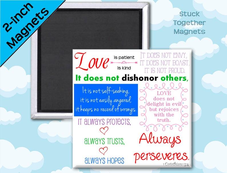 Love is Patient Love is Kind Magnet  1 Corinthians 13  2 image 0
