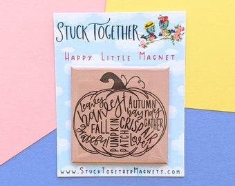 Happy Little Magnet - Fall Pumpkin - 2 Inch Magnet