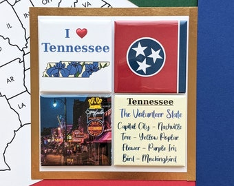 Tennessee Magnets - Beale Street - Set of Four Magnets - State Magnets