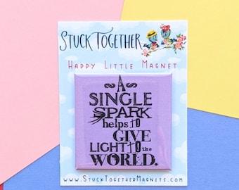 Happy Little Magnet - Single Spark - 2 Inch Magnet