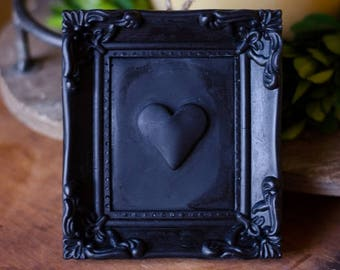 Silicone Picture Frame Mold with a heart