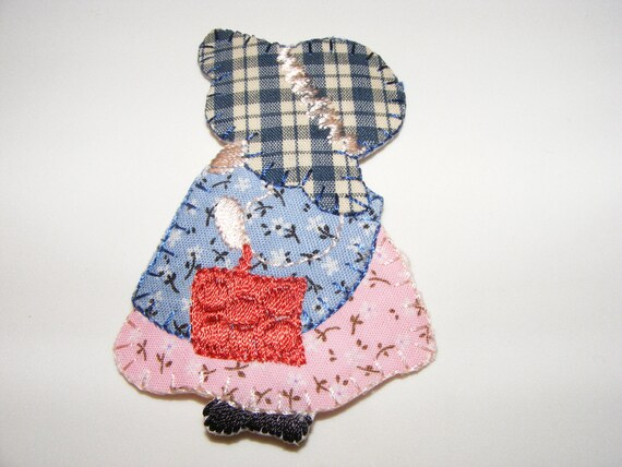 Country style doll iron on sew patch applique ships free etsy