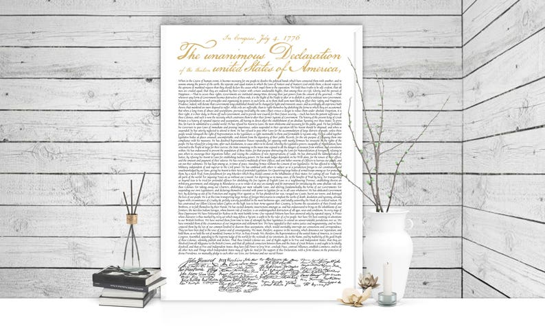 picture regarding Printable Declaration of Independence Text named Higher Declaration of Liberty Poster Print 24x36, 4th of July, 4th of July Decor, Fourth of July, Fourth of July Decorations, July 4th,