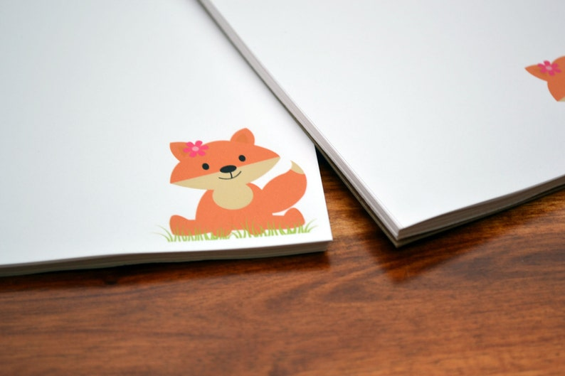 Personalized Notepads / Fox Notepads /Personalized Notebook / image 0