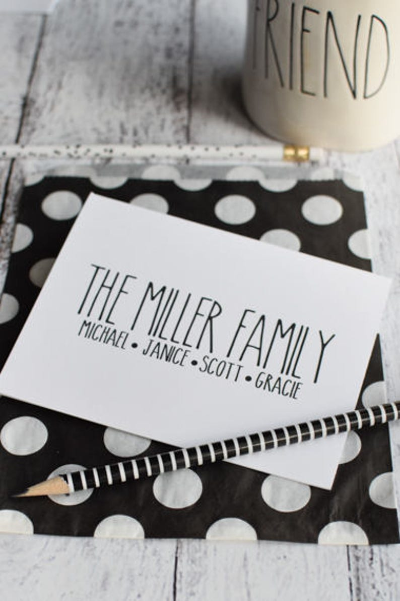 Personalized Family Note Cards  Personalized Family image 0