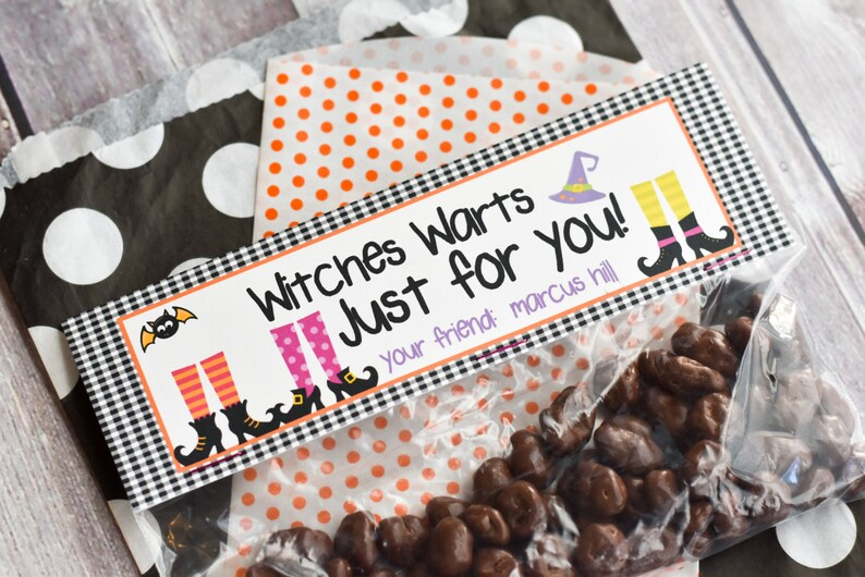 Halloween Treat Bag Topper / Witch Treat Bag Toppers / Witches image 0
