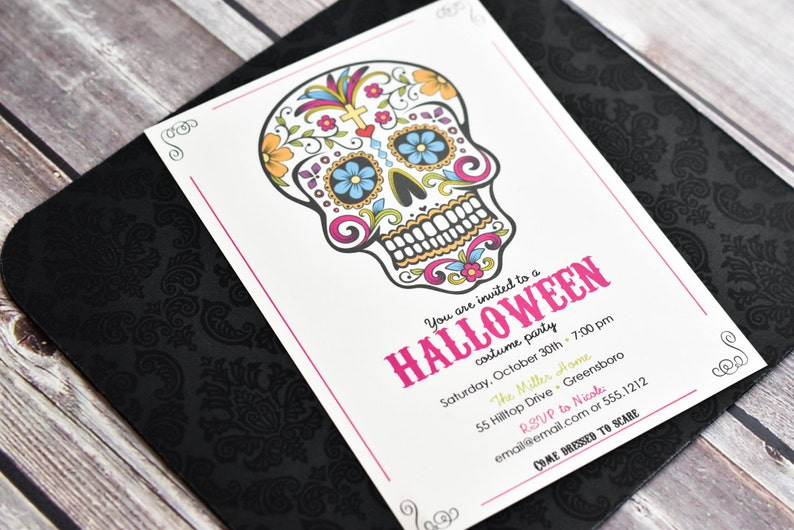 Day of the Dead Halloween Party Invitation / Halloween Party image 0