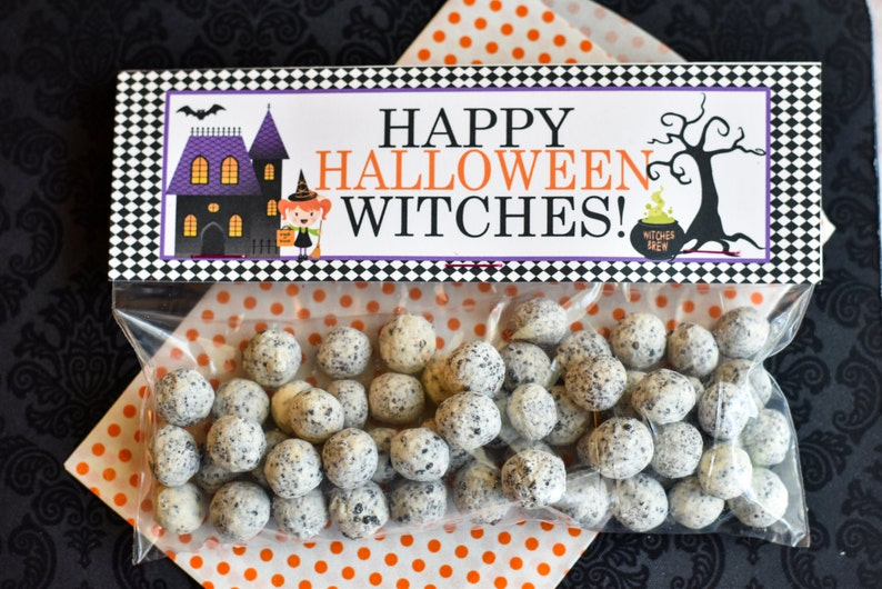 Halloween Treat Bag Topper / Halloween WitchTreat Bag Toppers image 0