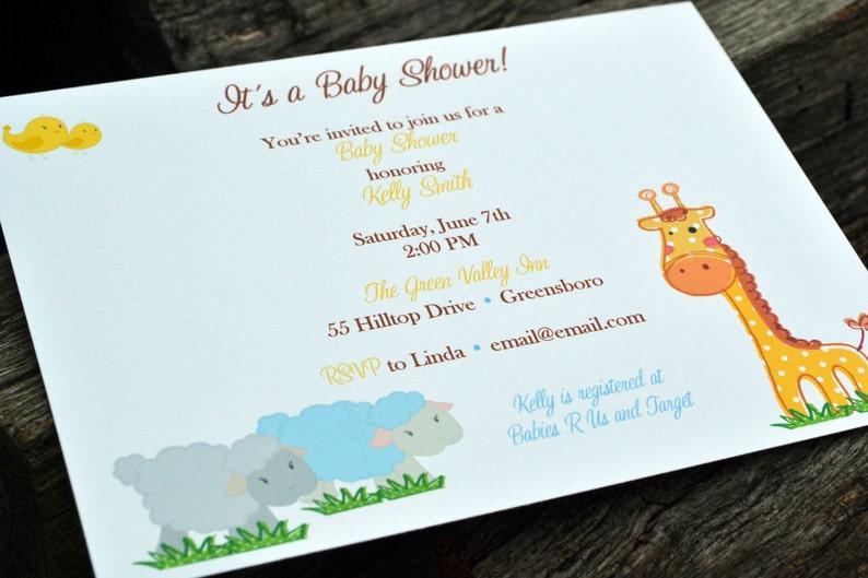 Baby Shower Jungle Invitation / Baby Shower Invite / Kids image 0