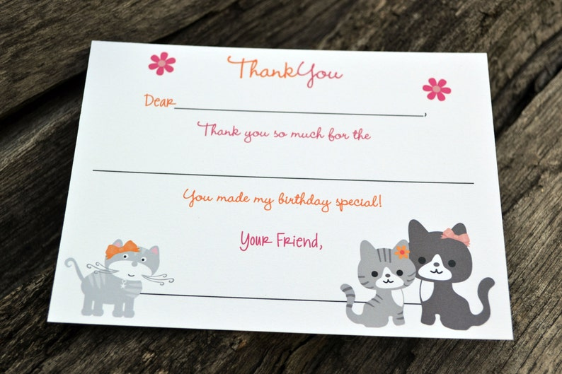 Kids Fill In the Blank Thank You Notes / Kids Thank You Notes image 0