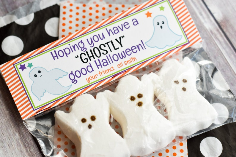 Halloween Treat Bag Topper / Ghost Treat Bag Toppers / Ghostly image 0