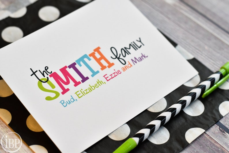 Family Stationery / Personalized Colorful Family Stationary / image 0