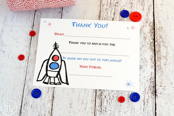 kids fill in the blank thank you notes kids thank you notes etsy