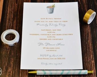 Kentucky Derby Party Invitation - Mint Julep Derby Party Invite - Kentucky Derby Party - Kentucky Derby Mint Julep - Party Invitation