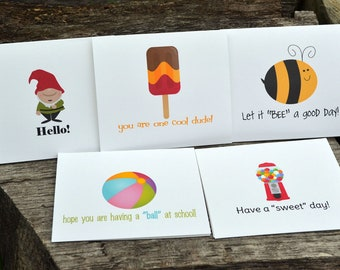 Lunch Box Mini Notes for Boys