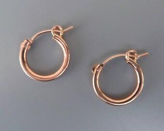 Rose Gold Hoop Earrings 7249edd31aec