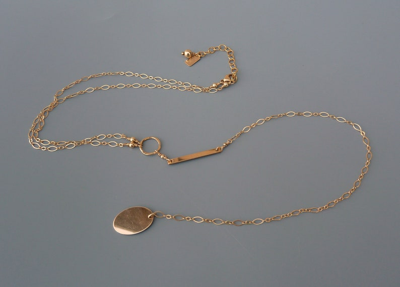 Gold Y Necklace Gold Lariat Necklace Long Gold Necklace image 0