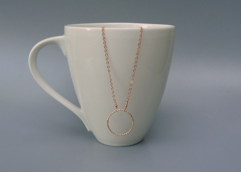 Open Circle Necklace Rose Gold Circle Necklace Rose Gold image 0