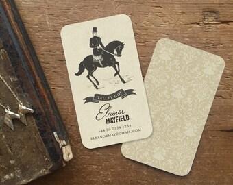 Cartes De Visite Downton Abbey Cadeaux Equestres Cadeau Pour Elle Dappel LArt Equestre Papeterie Personnalisee Sur Mesure