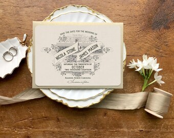 Save the Date, Save the Dates Cards, Rose Gold Wedding, Wedding Invitation, Invitations, Save the Date Postcard, Vintage Wedding Invitations