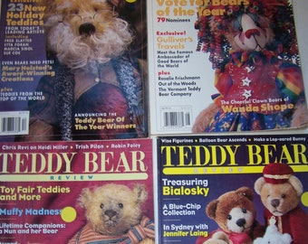 4 Vintage Teddy Bear making magazines Teddy Bear and Friends Teddy Bear Review Patterns