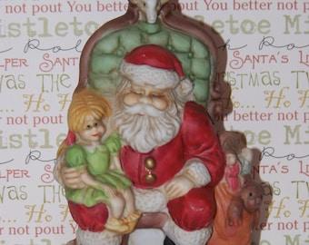 Vintage 1991 RSVP Porcelain Santa Figurine USA ~Christmas ~ Saint Nick