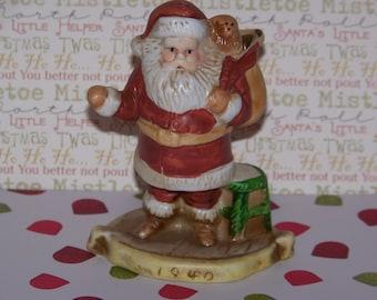 """Vintage 1991 RSVP """"1940"""" Santa Clause Porcelain Figurine Collectible"""