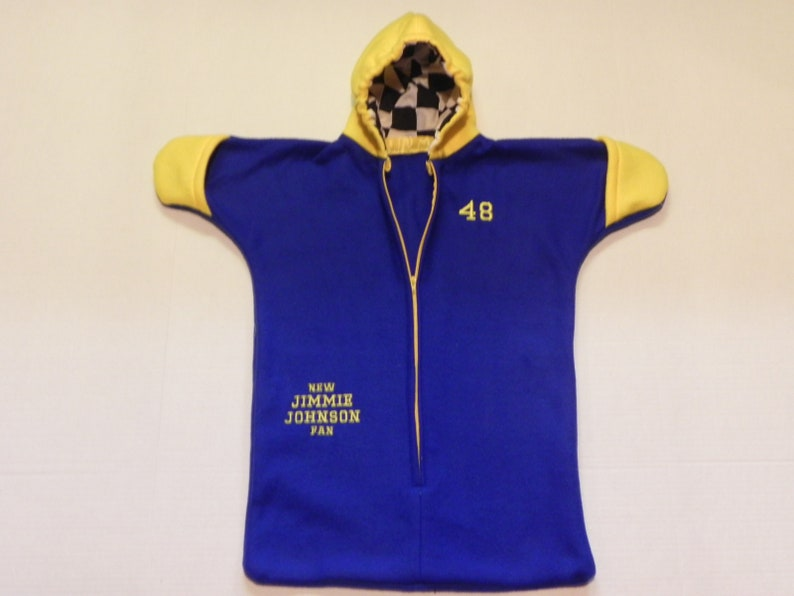 NASCAR JIMMIE JOHNSON  #48 fleece Baby Snuggy Bunting Coat  Fits Newborn   0 to 6 months