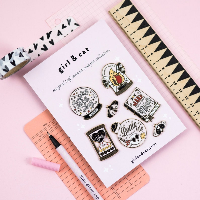 Magical Enamel Pin Set  Instant Pin Collection  Cute Enamel image 0
