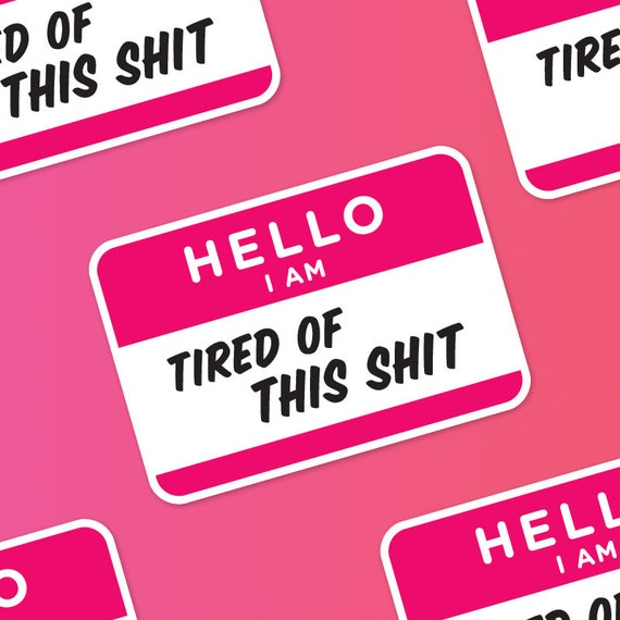 sarcastic sticker hello i am name badge stickers journal etsy