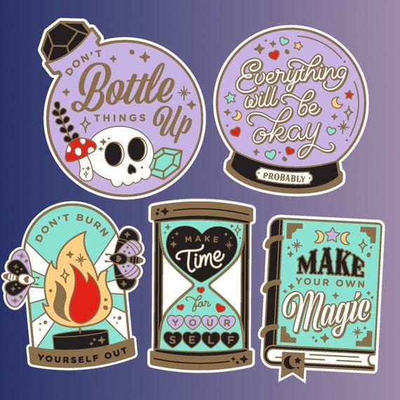 Make Your Own Magic Mint Green Spellbook Sticker
