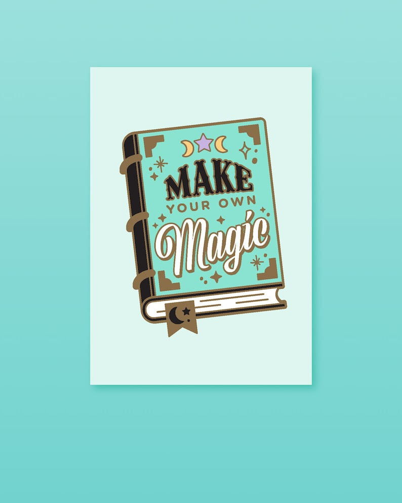 Make Your Own Magic Print Spell Book Wall Art Self image 0