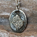 Raw Pyrite Necklace - Rough Stone Jewelry for Women - Protection Talisman Pendant - Oddities & Curiosities - Occult Shop - Witch Fashion