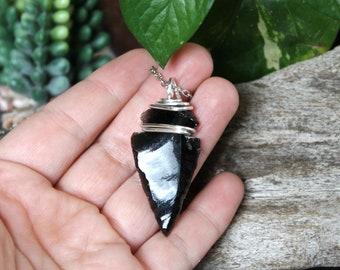 Stone Arrowhead Necklace - Hippie Jewelry - Natural Stone Necklace - Boho Jewelry - Hippie Festival Fashion Gypsy Jewelry Bohemian Necklace